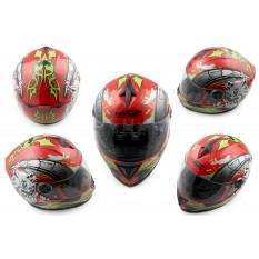 Шлем-интеграл   (mod:OP01) (size:XL, красный)   HONZ