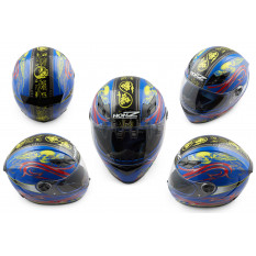 Шлем-интеграл   (mod:OP02) (size:L, синий)   HONZ