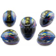 Шлем-интеграл   (mod:OP02) (size:M, синий)   HONZ