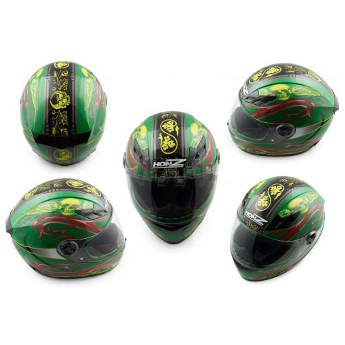 Шлем-интеграл   (mod:OP02) (size:XL, зеленый)   HONZ