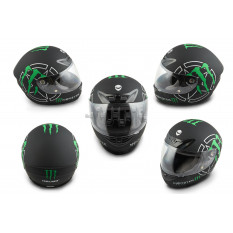 Шлем-интеграл   (mod:XZF07) (size:L, черный)   HELMO