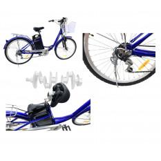 Электровелосипед (в сборе)    Дорожный 26   (синий)   KL