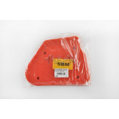 Элемент воздушного фильтра   Yamaha JOG 5BM   (поролон с пропиткой)   (красный)   AS