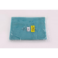 Элемент воздушного фильтра   заготовка 200х300mm   (поролон с пропиткой)   (зеленый)   AS