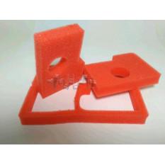 Элемент воздушного фильтра б/п   для St M 180   (пара)   (поролон с пропиткой, красный)   AS