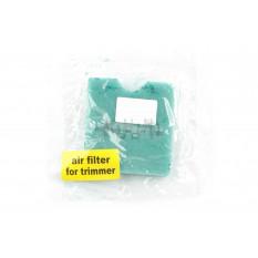 Элемент воздушного фильтра мотокосы   квадратный   (поролон с пропиткой)   (зеленый)   AS