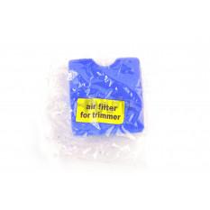 Элемент воздушного фильтра мотокосы   квадратный   (поролон с пропиткой)   (синий)   CJl