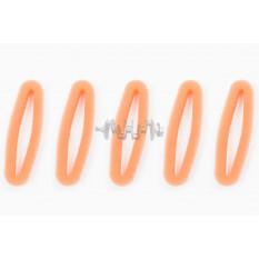 Элемент воздушного фильтра мотокосы   круглый   (поролон с пропиткой, 5шт в упаковек)   (красный)