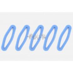 Элемент воздушного фильтра мотокосы   круглый   (поролон с пропиткой, 5шт в упаковек)   (синий)   AS