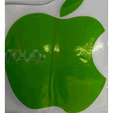 Наклейка   логотип   APPLE   (14х12, зеленая)   (#0467)