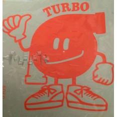 Наклейка   декор   TURBO   (16x16см, оранжевый)   (#0309)