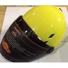 Шлем открытый (mod:210) (size:L, желтый, +тонированный визор) TANKE арт.O-194288