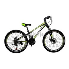 Велосипед (в сборе)    Cross 24 Racer Рама-11 Lightgreen-Black-Silver   (24CJS18-8-9)   T-BIKE