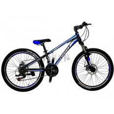 Велосипед (в сборе)    Cross 26 Racer Рама-13 Black-Blue-White   (26CJS18-9-3)   T-BIKE