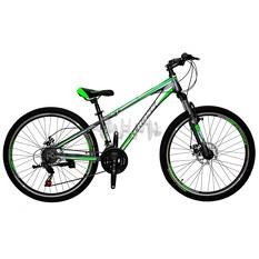 Велосипед (в сборе)    Cross 26 Racer Рама-13 Gray-Green-White   (26CJS18-9-5)   T-BIKE