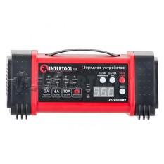 Зарядное устройство 12/24В, 2/6/10А, 2/6A, 230В, дисплей INTERTOOL