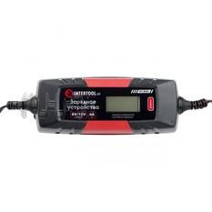 Зарядное устройство 6/12В, 1/2/3/4А, 230В, зимний режим зарядки, дисплей, максимальная емкость заряж