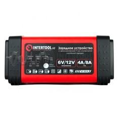 Зарядное устройство 6/12В, 4/8A, 230В, LED-индикация INTERTOOL