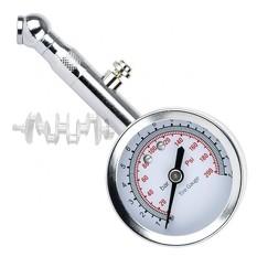 Измеритель давления в шинах стрелочный, металлический корпус, клапан сброса давления AT-1004 INTERTO