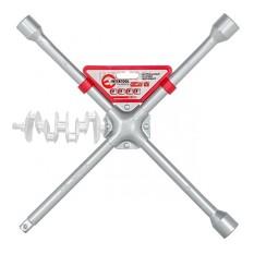 Ключ баллонный крестовой 16 x 406 мм, D=16 мм, 17; 19; 21; 1/2 профессионал INTERTOOL