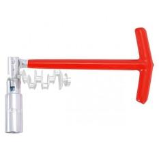 Ключ свечной Т-образный с шарниром 16х250 мм INTERTOOL