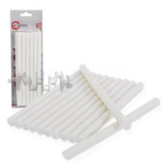 Комплект белых клеевых стержней 11,2 мм x 200 мм, 12 шт. INTERTOOL