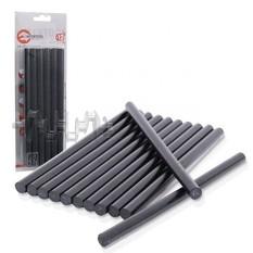 Комплект черных клеевых стержней 11,2 мм x 200 мм, 12 шт. INTERTOOL
