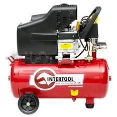 Компрессор 24 л, 1.5 кВт, 220 В, 8 атм, 206 л/мин. INTERTOOL