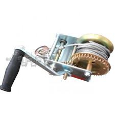 Лебедка рычажная барабанная стальной трос тяговое усилие 900 кг INTERTOOL