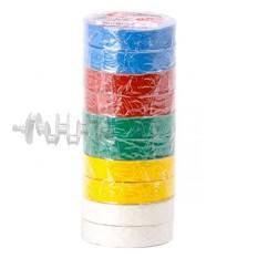 Лента изоляционная 0,15 мм x 17 мм x 20 м цветная INTERTOOL