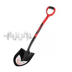 Лопата штыковая, ручка из фибергласса, 217х290х1050 мм INTERTOOL