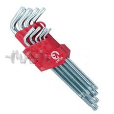 Набор Г-образных ключей TORX 9 шт, Т10-Т50, Cr-V, Big INTERTOOL