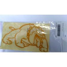 Наклейка   декор   DOG   (12x9cм, оранжевая, левая)