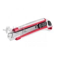 Нож с 3-мя отломными лезвиями 18 мм, металлическая направляющая, противоскользящий корпус. INTERTOOL