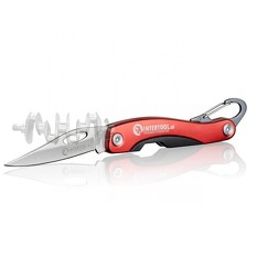 Нож складной 194 мм, ручка с алюминиевыми вставками, карабин. INTERTOOL