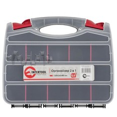 Органайзер пластиковый, 12,5, 2 в 1, 320x260x80 мм INTERTOOL