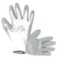 Перчатка вязаная покрытая нитрилом на ладони 10 (серая) INTERTOOL
