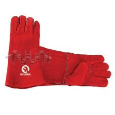 Перчатка замшевая 14 (красная) INTERTOOL