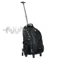 Рюкзак дорожный, 3 отделения, 30 л. на колесах с телескопической ручкой INTERTOOL