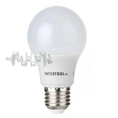 Светодиодная лампа LED 10Вт, E27, 220В, INTERTOOL