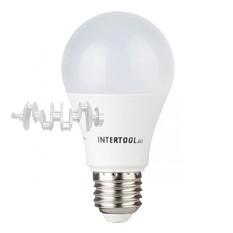 Светодиодная лампа LED 12Вт, E27, 220В, INTERTOOL