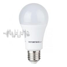 Светодиодная лампа LED 15Вт, E27, 220В, INTERTOOL