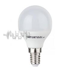 Светодиодная лампа LED 5Вт, E14, 220В, INTERTOOL