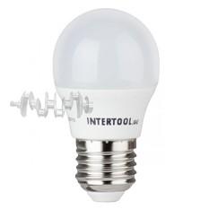 Светодиодная лампа LED 5Вт, E27, 220В, INTERTOOL