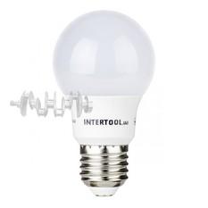 Светодиодная лампа LED 7Вт, E27, 220В, INTERTOOL