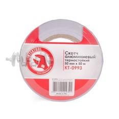 Скотч алюминиевый термостойкий 50 мм*50 м INTERTOOL