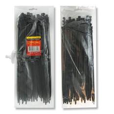 Хомут пластиковый 3,6x300 мм, (100 шт/упак), черный INTERTOOL