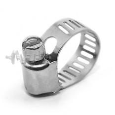 Хомут стальной оцинкованный 8 мм D 6-16 мм (упаковка 10 шт) INTERTOOL