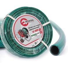 Шланг для полива 3-х слойный 1/2, 20 м, армированный PVC INTERTOOL