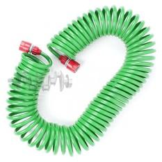 Шланг для полива спиральный 15 м с конекторами INTERTOOL